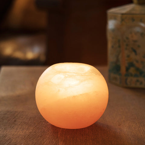 Pink Himalayan Salt Candle Holder- Isabella Catalog