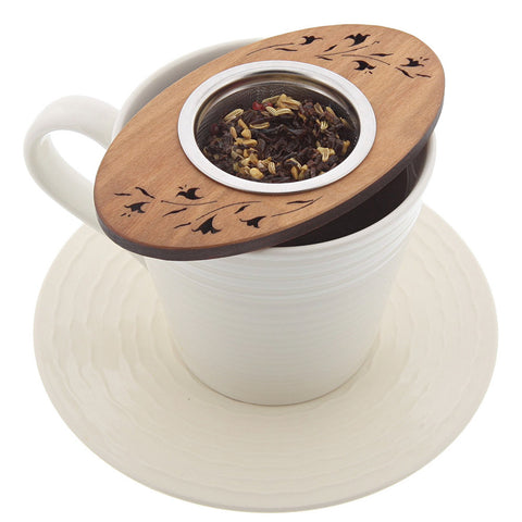 Cherry Wood Tea Nest Strainer- Isabella Catalog