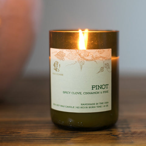 Pinot Noir Rescued Wine Soy Candle- Isabella Catalog
