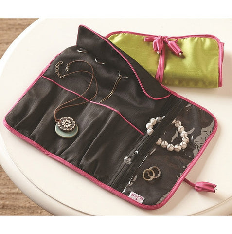 Can't Live Without It Jewelry Roll- Black - Isabella: Gifts with Spirit