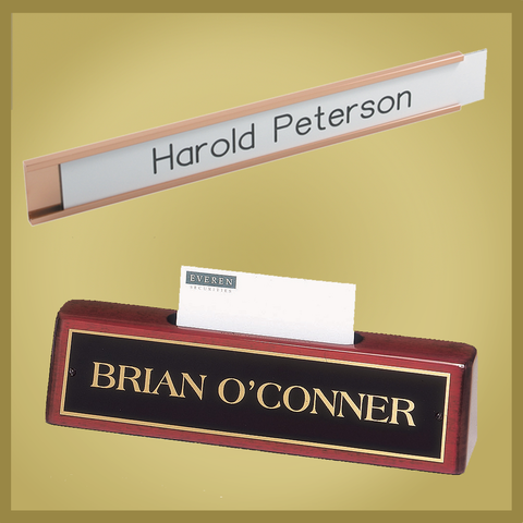 Desk & Door Nameplates