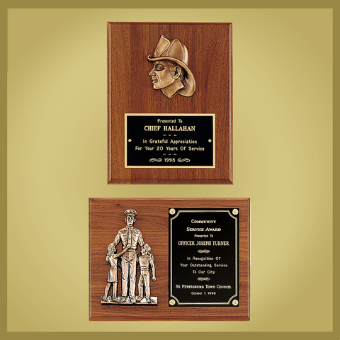 Emergency Services Plaques