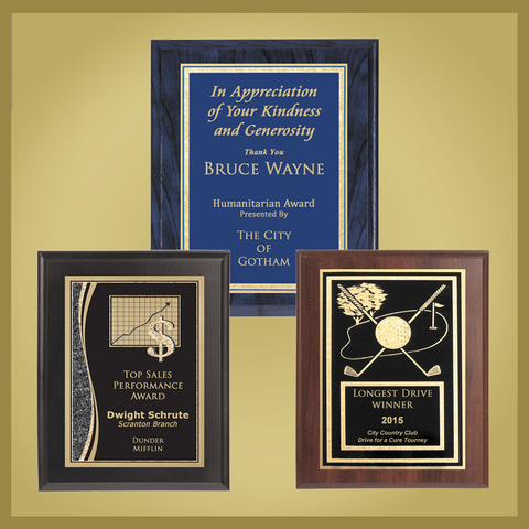 Value Plaques with Plates