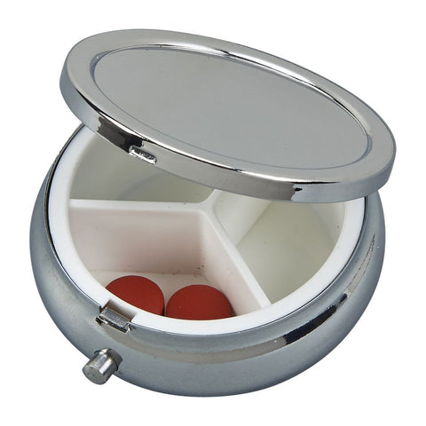 Round Hinged Pill Box
