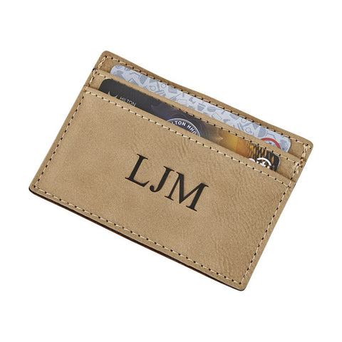 Money Clip Card Case Tan