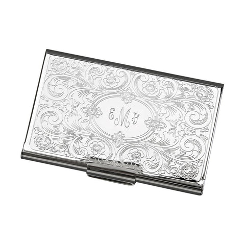 Card Case Embossed Scroll