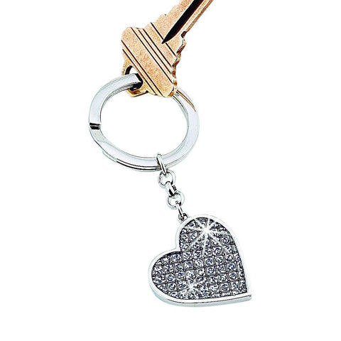 Glitter Galore Single Heart Key Ring
