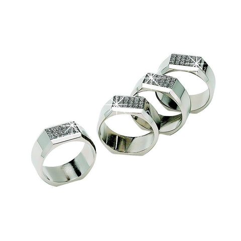 Napkin Rings Set Rolled Edge