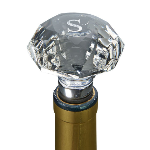 Wine Stopper Optic Crystal