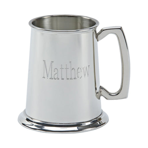 Satin Finish Pewter Tankard