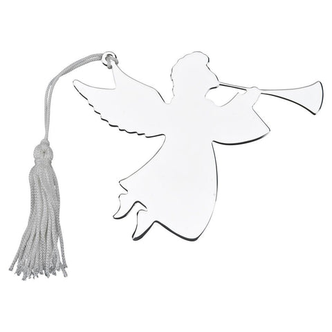 Nickel Plated Angel Trumpeter Ornament