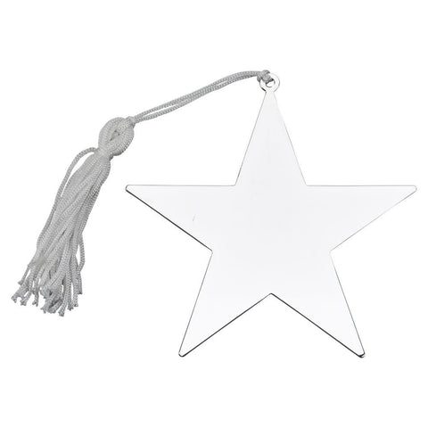 Nickel Plated Star Ornament