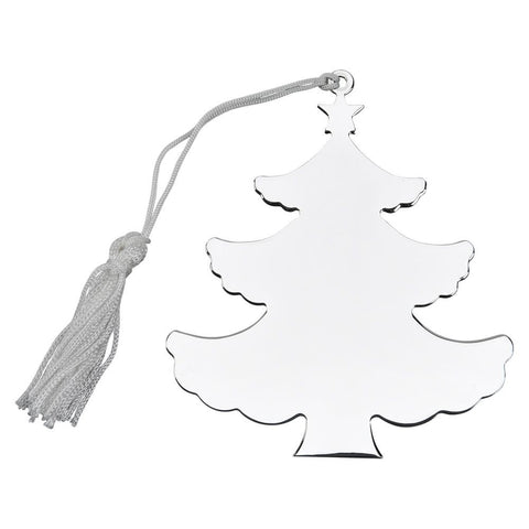 Nickel Plated Holiday Tree Ornament