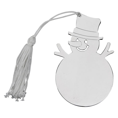 Nickel Plated Snowman Ornament