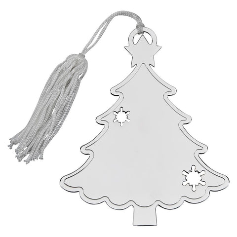 Nickel Plated Tree Ornament
