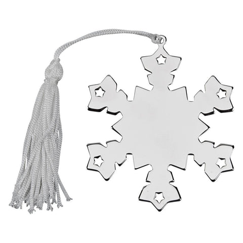 Nickel Plated Snowflake Ornament