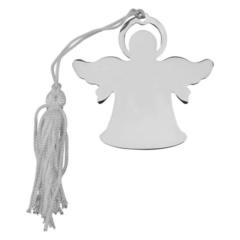 Nickel Plated Angel Ornament