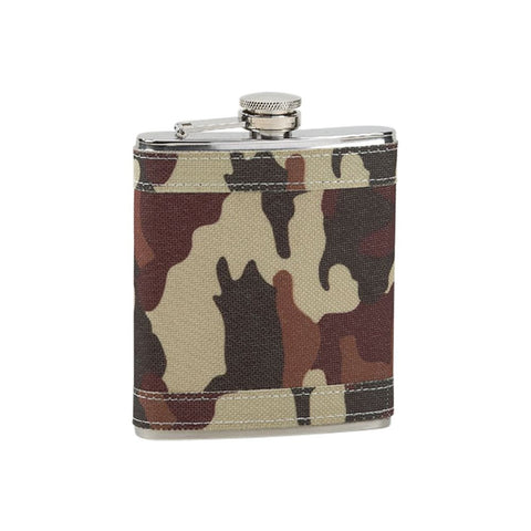 Leatherette Flask Camo