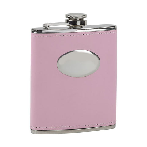 Leather Flask Pink
