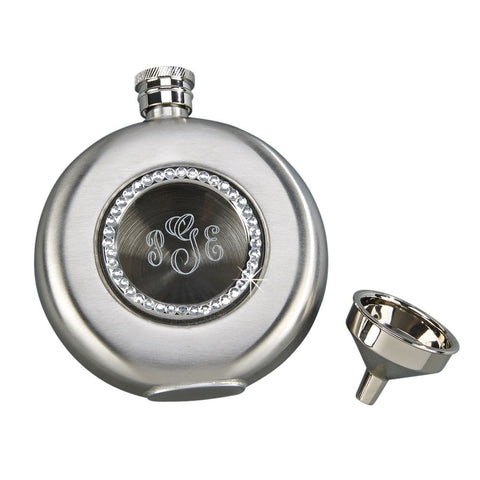 Flask Round With Crystals