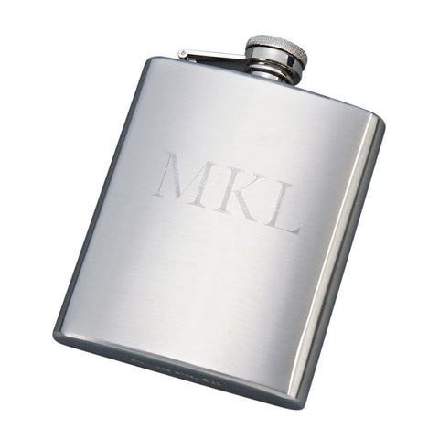 Brushed Finish Flask