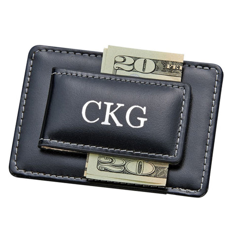 Money Clip Card Holder Black