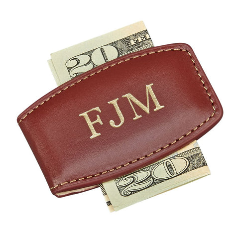 Money Clip Brown Leather