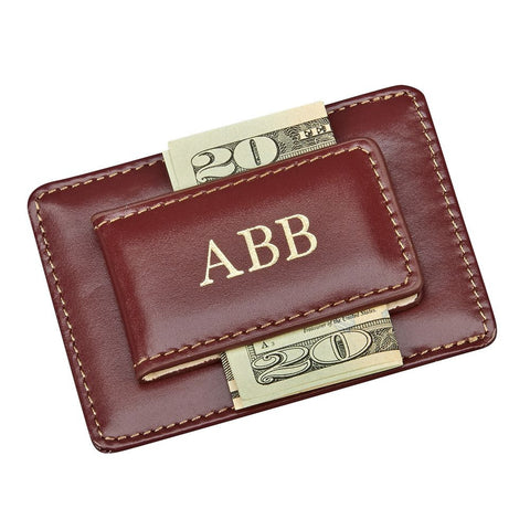 Money Clip Card Holder Brown