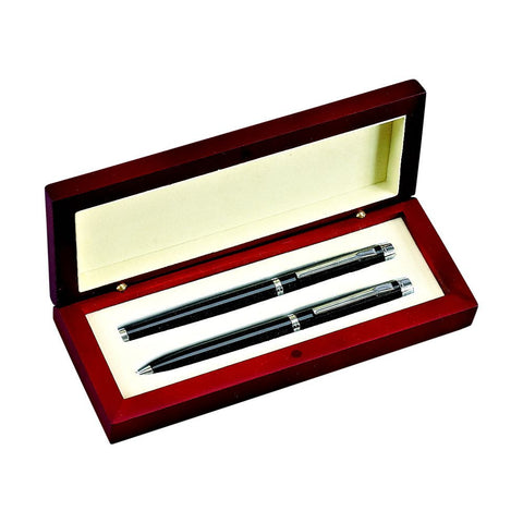 Pen Set In Wood Box