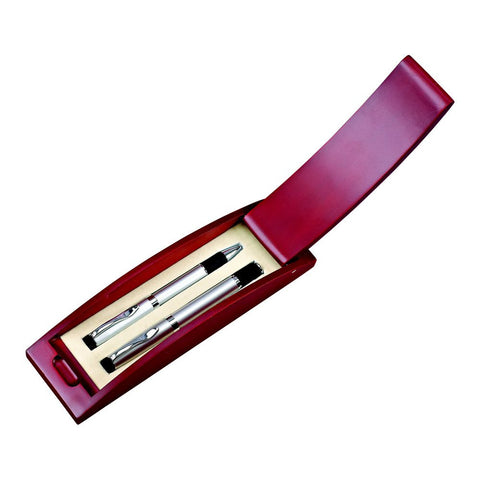 Pen Set In Rosewood Box