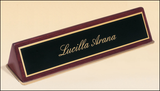 Piano Finish Wedge Desk Nameplate