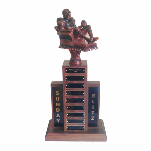 Walnut Fantasy Football Small Perpetual Trophy