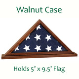 Flag Display Case Walnut