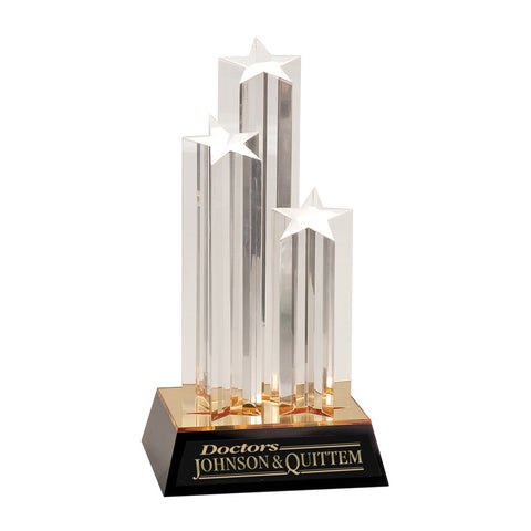 Triple Rising Star Acrylic Award