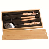 BBQ Set in Pine Box
