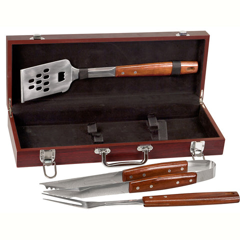 Bbq Set In Rosewood Finish Case