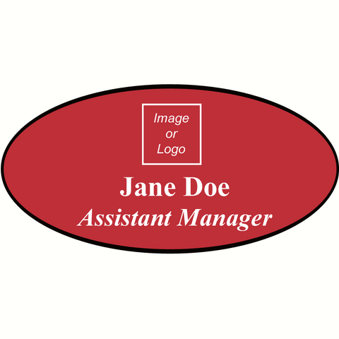 Name Badge Oval
