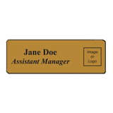Name Badge Rounded Corners - Silver & Gold