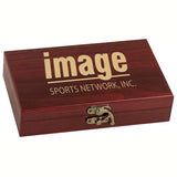 Card & Dice Gift Set - Rosewood Finish