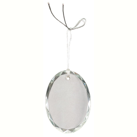 Crystal Oval Facet Ornament