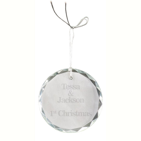 Crystal Round Facet Ornament