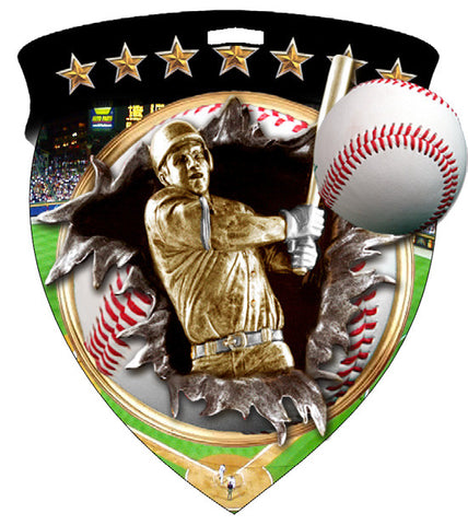 Color Shield Medallion Baseball
