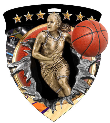 Color Shield Medallion Basketball Female