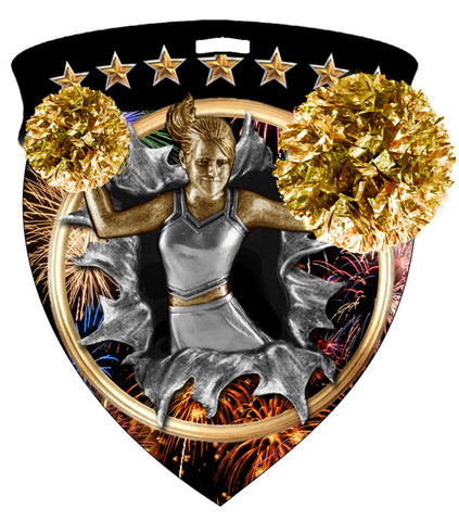 Color Shield Medallion Cheerleader Female
