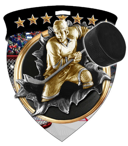 Color Shield Medallion Hockey