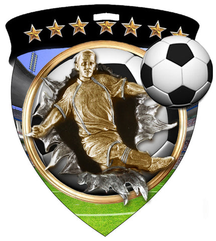 Color Shield Medallion Soccer Male