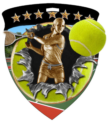 Color Shield Medallion Tennis Female