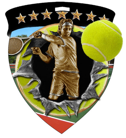 Color Shield Medallion Tennis Male