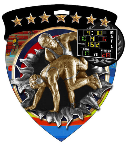 Color Shield Medallion Wrestling