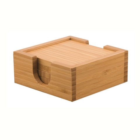 Bamboo Coaster Set Holder